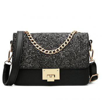 Sequined Female Korean Minimalist Personality Party Shoulder All-match Hand Chain Temperament Small Package - BLACK BLACK
