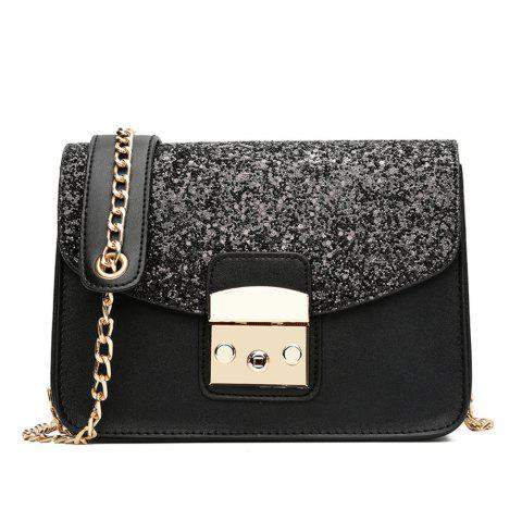Messenger All-match Cute Adorable Korean Tide Simple Summer Shoulder Chain Bag - BLACK