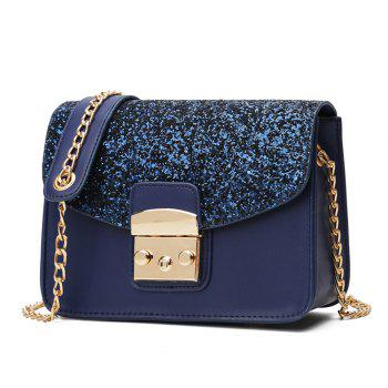 Messenger All-match Cute Adorable Korean Tide Simple Summer Shoulder Chain Bag - BLUE BLUE