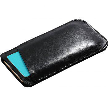 Charmsunsleeve For UMIDIGI G 5.0 inch Case Ultra-thin Microfiber Leather Phone Sleeve Bag Card Pocket -  BLACK