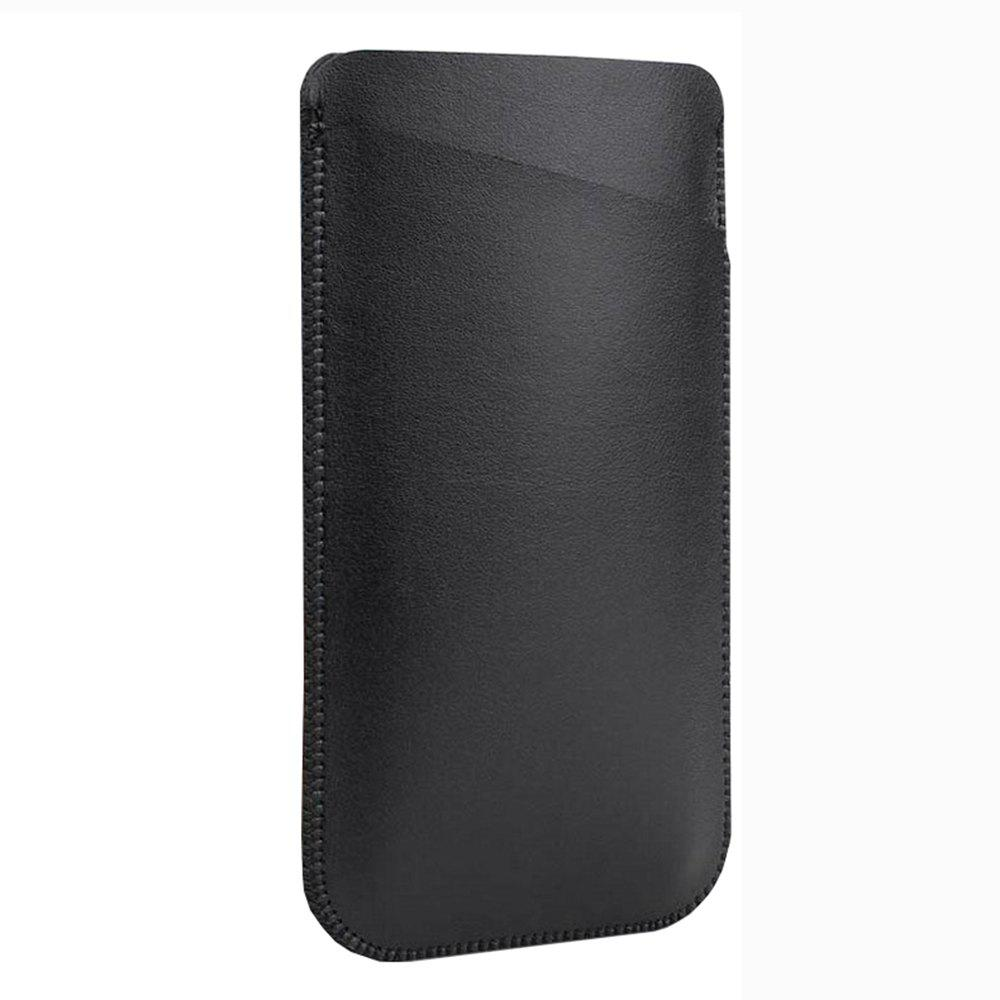 Charmsunsleeve For UMIDIGI G 5.0 inch Case Ultra-thin Microfiber Leather Phone Sleeve Bag Card Pocket - BLACK A