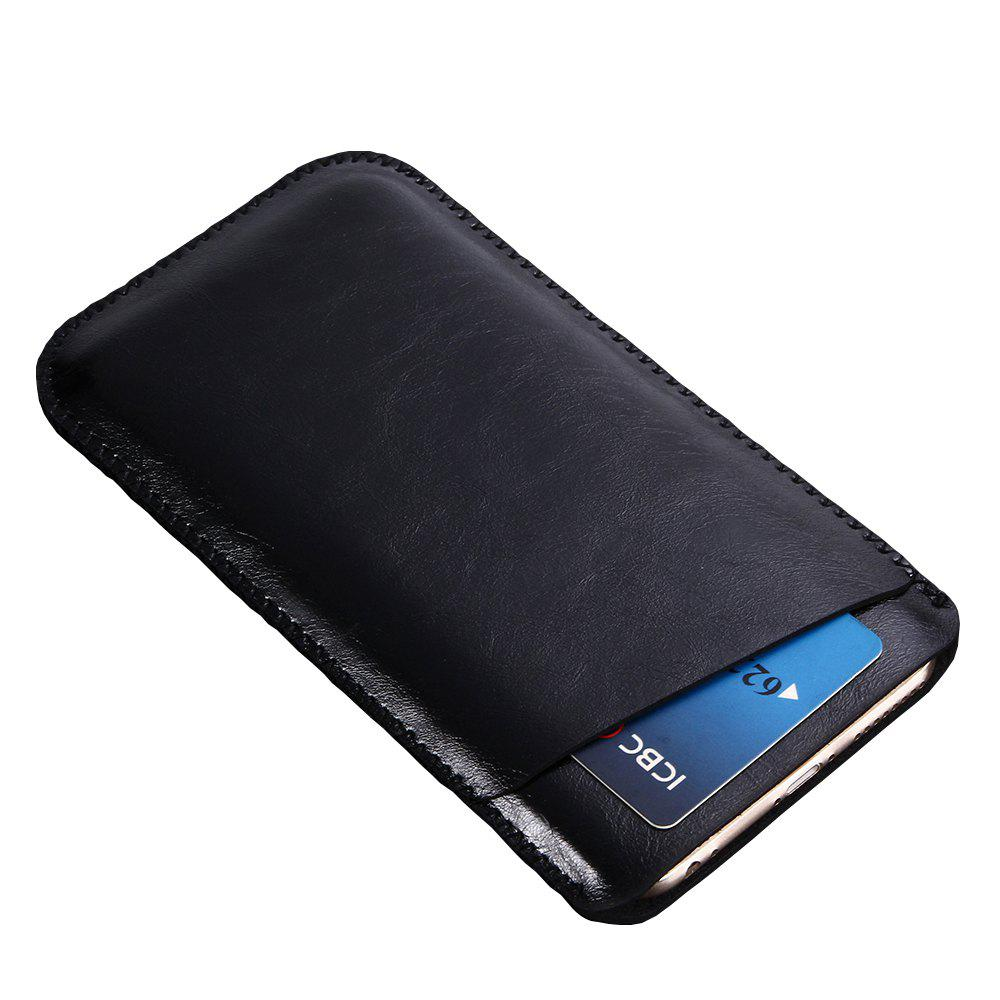 Charmsunsleeve For UMIDIGI C2 5.0 inch Case Ultra-thin Microfiber Leather Phone Sleeve Bag Card Pocket - BLACK