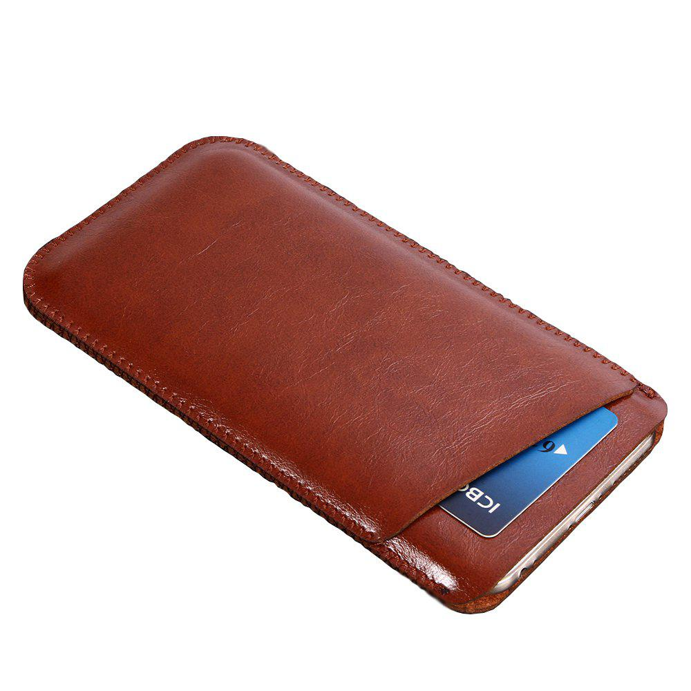 Charmsunsleeve For UMIDIGI C2 5.0 inch Case Ultra-thin Microfiber Leather Phone Sleeve Bag Card Pocket - BROWN