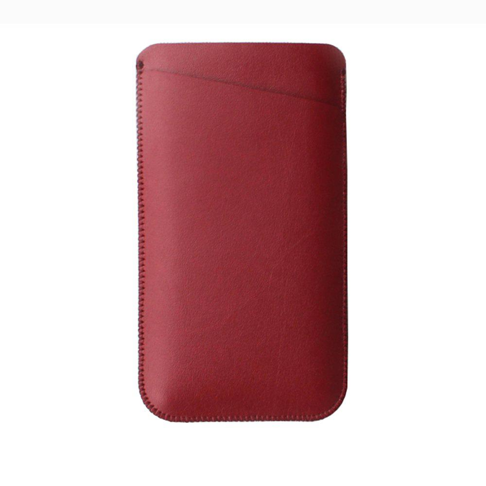 Charmsunsleeve For UMIDIGI Z1 5.5 inch Case Ultra-thin Microfiber Leather Phone Sleeve Bag Card Pocket - RED