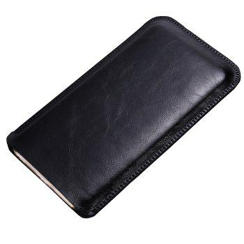 Charmsunsleeve For UMIDIGI S 5.5 inch Case Ultra-thin Microfiber Leather Phone Sleeve Bag Card Pocket -  BLACK