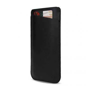 Charmsunsleeve For UMIDIGI S 5.5 inch Case Ultra-thin Microfiber Leather Phone Sleeve Bag Card Pocket - BLACK A