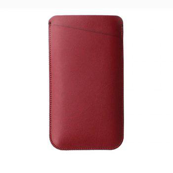 Charmsunsleeve For UMIDIGI S 5.5 inch Case Ultra-thin Microfiber Leather Phone Sleeve Bag Card Pocket - RED RED
