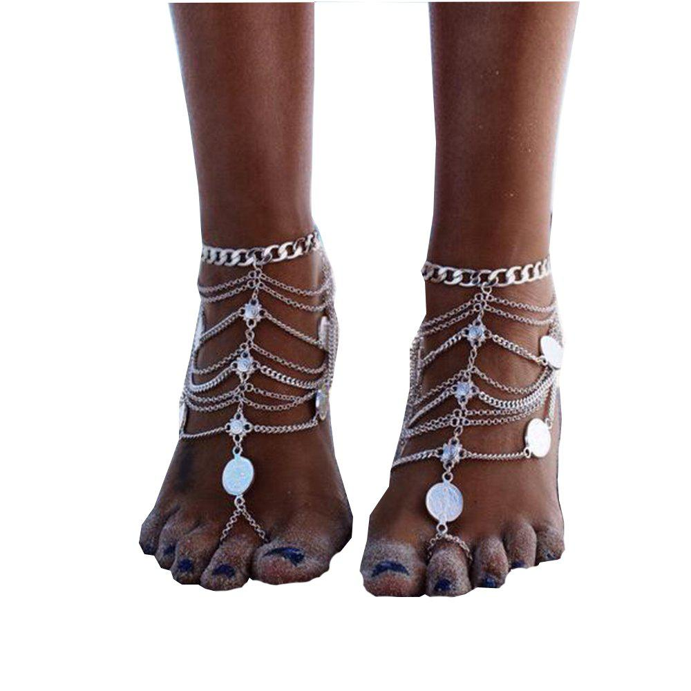 Multi-Layer Chain Chain Foot Chain Anklet - SILVER