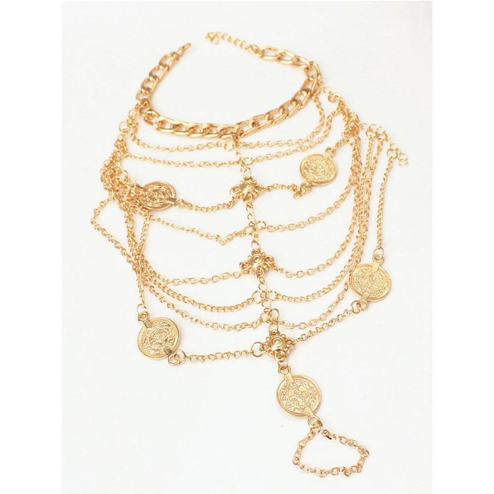 Multi-Layer Chain Chain Foot Chain Anklet - GOLDEN