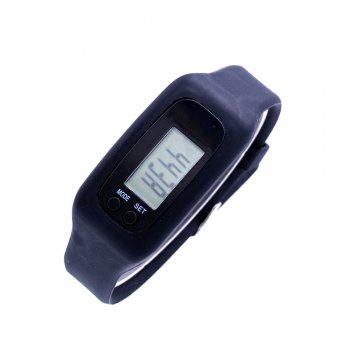 Trendy Sports Silicone Band Watch - BLACK FEMALE