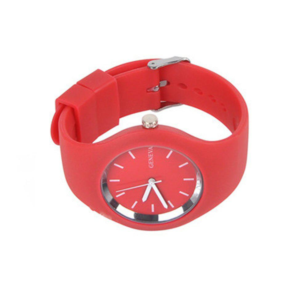 Stylish Simple Silicone Band Women Watch - RED FEMALE