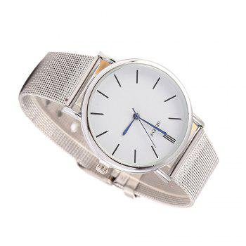 Stylish Casual Stainless Steel Band Men Watch - SILVER SILVER