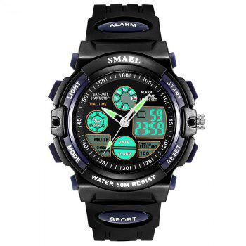 Multi-function Waterproof Durable Sport LED Electronic Watch - DARK BLUE DARK BLUE