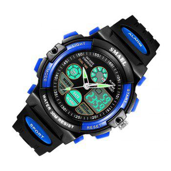 Multi-function Waterproof Durable Sport LED Electronic Watch - BLUE
