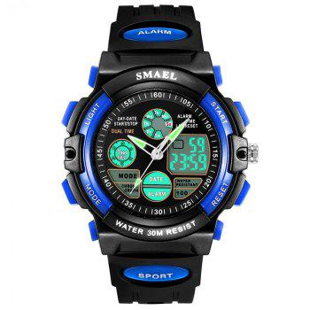 Multi-function Waterproof Durable Sport LED Electronic Watch - BLUE BLUE