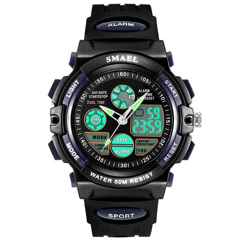 Multi-function Waterproof Durable Sport LED Electronic Watch - DARK BLUE