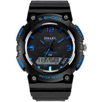 SMAEL SL1539C Multi-function Waterproof Durable Electronic Watch for Students - BLACK AND BLUE BLACK/BLUE