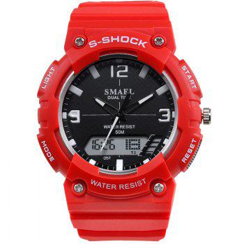 SMAEL SL1539C Multi-function Waterproof Durable Electronic Watch for Students - RED RED