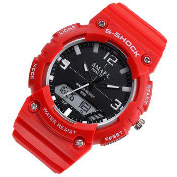 SMAEL SL1539C Multi-function Waterproof Durable Electronic Watch for Students - RED