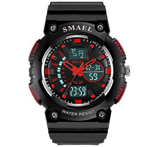 SMAEL 1539 Multi-function Waterproof Electronic Sport Watch for Kids - RED
