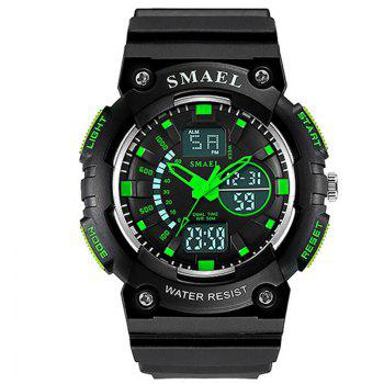 SMAEL 1539 Multi-function Waterproof Electronic Sport Watch for Kids - GREEN GREEN