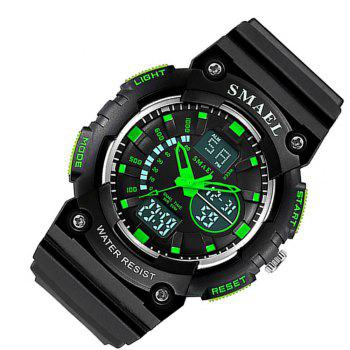 SMAEL 1539 Multi-function Waterproof Electronic Sport Watch for Kids -  GREEN
