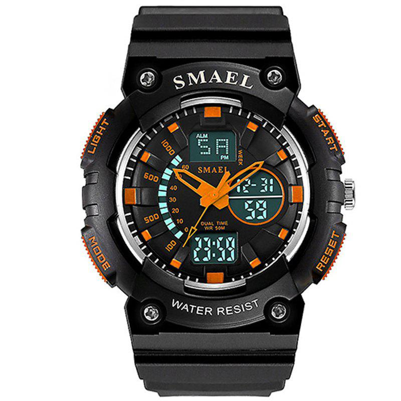 SMAEL 1539 Multi-function Waterproof Electronic Sport Watch for Kids - ORANGE