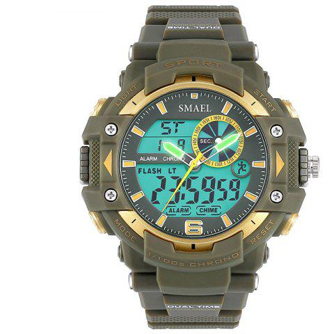 SMAEL 1379 Fashion Multi-function Waterproof Electronic Watch for Men - ARMY GREEN