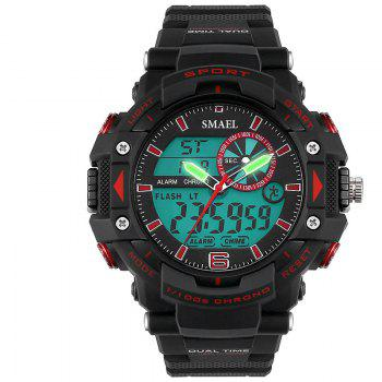 SMAEL 1379 Fashion Multi-function Waterproof Electronic Watch for Men - RED RED