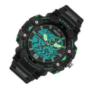 SMAEL 1379 Fashion Multi-function Waterproof Electronic Watch for Men - GREEN