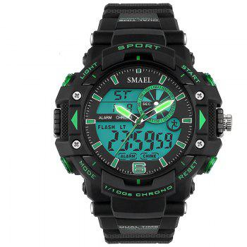 SMAEL 1379 Fashion Multi-function Waterproof Electronic Watch for Men - GREEN GREEN