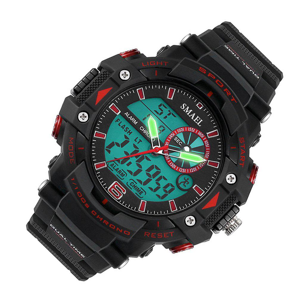 SMAEL 1379 Fashion Multi-function Waterproof Electronic Watch for Men - RED