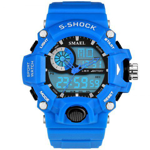 SMAEL 1385 Multi-function Durable Waterproof Electronic Outdoor Sport LED Watch - BLUE