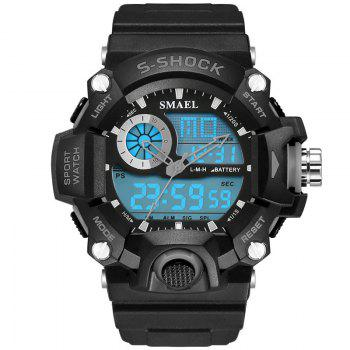 SMAEL 1385 Multi-function Durable Waterproof Electronic Outdoor Sport LED Watch - GRAY GRAY