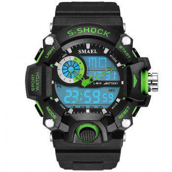 SMAEL 1385 Multi-function Durable Waterproof Electronic Outdoor Sport LED Watch - GREEN GREEN