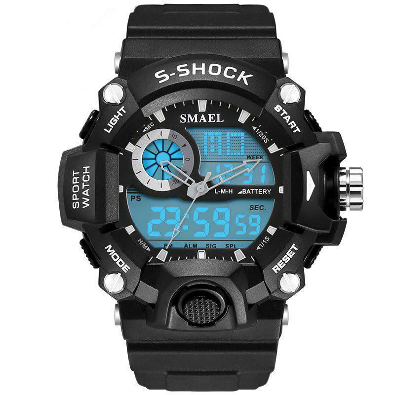 SMAEL 1385 Multi-function Durable Waterproof Electronic Outdoor Sport LED Watch - WHITE