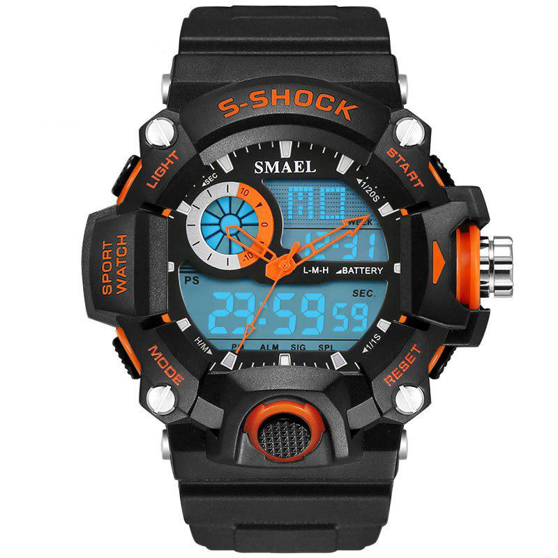 SMAEL 1385 Multi-function Durable Waterproof Electronic Outdoor Sport LED Watch - ORANGE