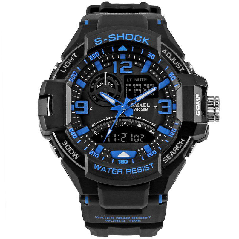 SMAEL 1516 Multi-function Waterproof Durable Outdoor Sport LED Watch - BLUE