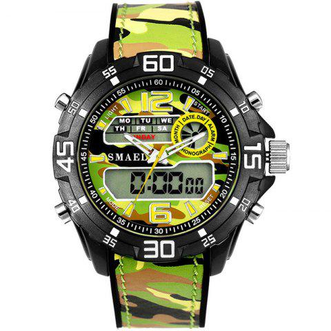 SMAEL 1077 Multi-function Outdoor Sport Waterproof Electronic Camouflage Watch - BROWN