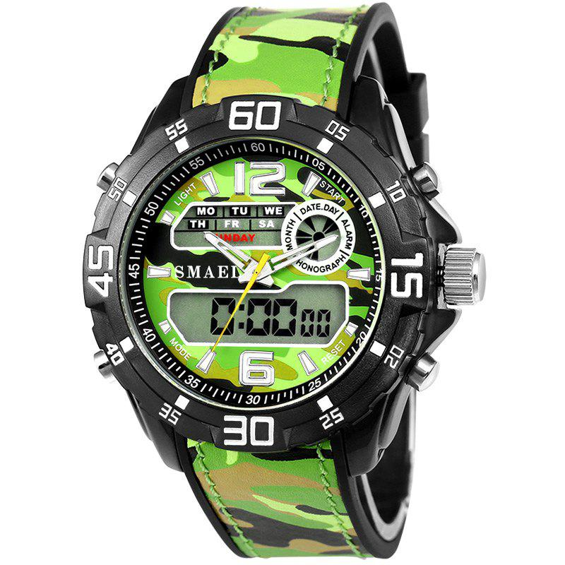 SMAEL 1077 Multi-function Outdoor Sport Waterproof Electronic Camouflage Watch - GREEN