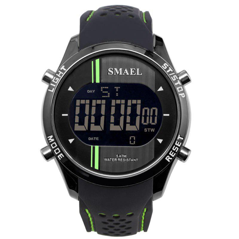 SMAEL 1283 Multi-function Waterproof Electronic Sport Watch - GREEN