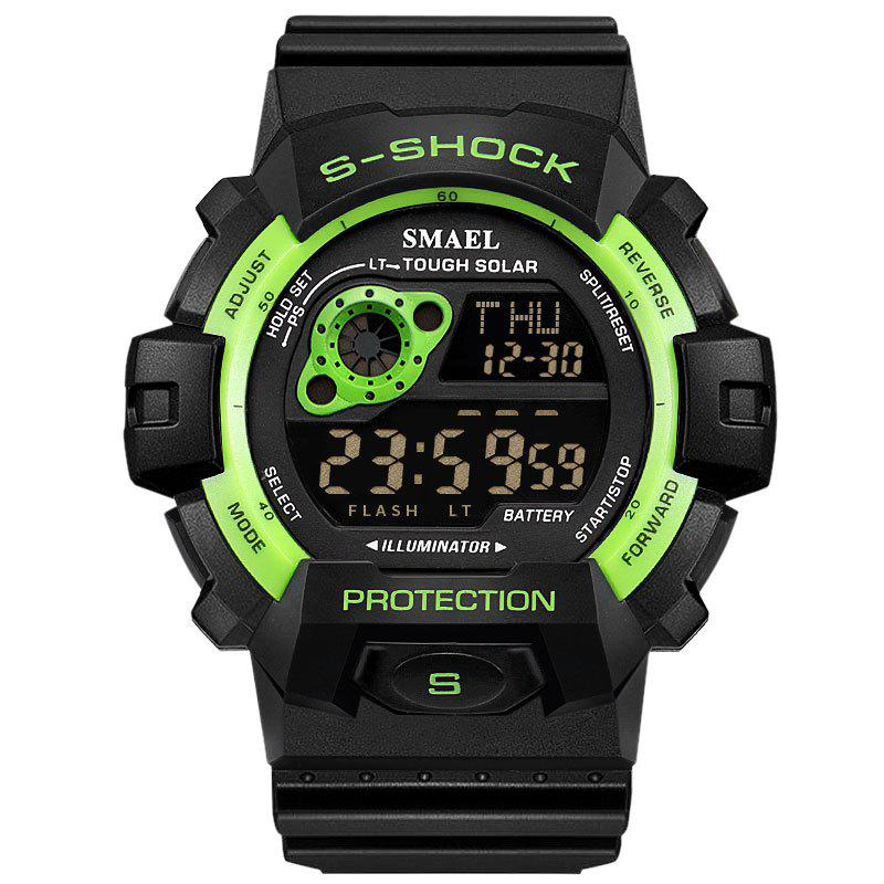 SMAEL 1446 Cool Multi-function Waterproof Sport Electronic Watch - GREEN
