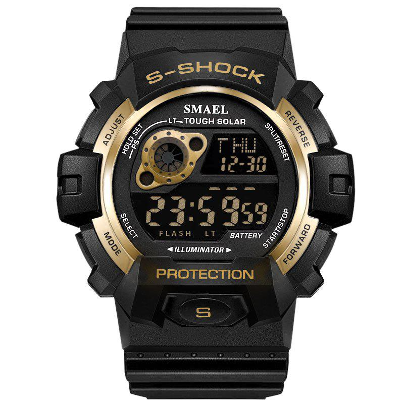 SMAEL 1446 Cool Multi-function Waterproof Sport Electronic Watch - GOLDEN