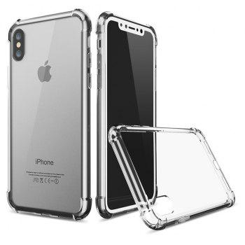 Transparent Crystal Clear Silicone Protection Cover for iPhone - BLACK IPHONE 6S