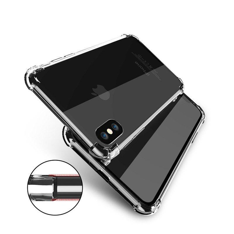Housse de protection transparent en silicone transparent pour iPhone - Noir IPHONE 6 PLUS