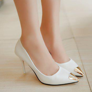 Fashion Sexy High Heel Shoes - WHITE 37
