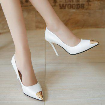 Fashion Sexy High Heel Shoes - WHITE 36