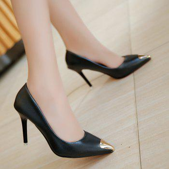 Fashion Sexy High Heel Shoes - BLACK BLACK
