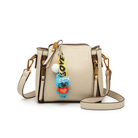 Bai Li 072 Mini Diagonal Bucket Bag - OFF WHITE