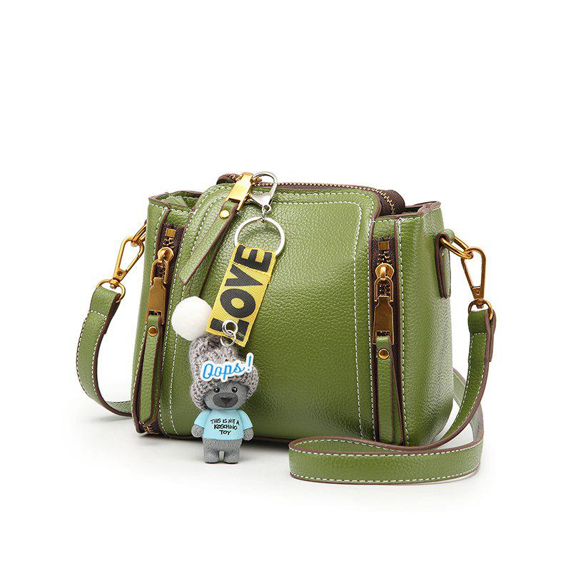 Bai Li 072 Mini Diagonal Bucket Bag - GREEN